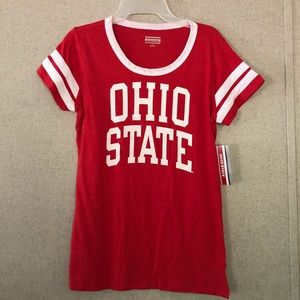 NWT Official red and white Ohio State shirt L